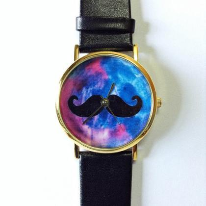 Moustache Watch, Galaxy watch, Vint..