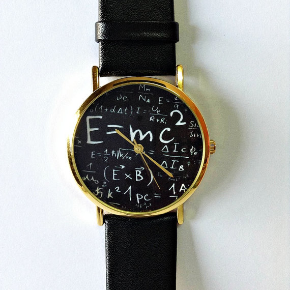 Original Freeforme Einstein Watch , E=MC2 Equation Watch, Vintage Style Leather Watch, Women Watches, Mens Watch, Unisex , Boyfriend Watch